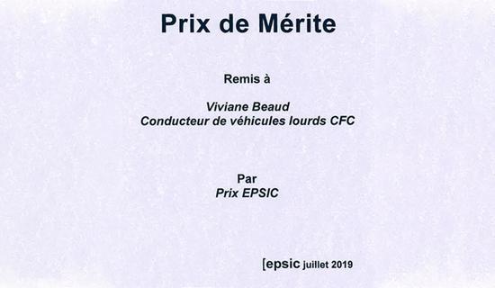 Viviane Beaud obtient brillamment son CFC